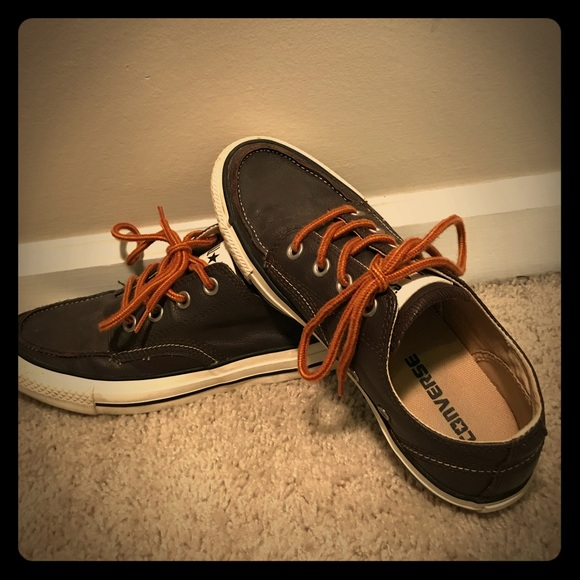 mens leather converse shoes